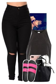"""Untitled #2075"" by toniiiiiiiiiiiiiii ❤ liked on Polyvore featuring River Island, Belkin, ZeroUV and MCM"