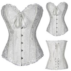 Satin Bone Lace Up Steampunk Corset Sexy Bustier Corselet Corset and Bustier Corset Overbust Slim Corset Strapless Like if you remember Visit our store