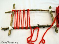 wrap yarn around the loom