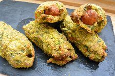 Broccoli spinat pølsehorn