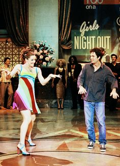 Jennifer Garner and Mark Ruffalo in  13 Going on 30, 2004. Via http://hollywoodlady.tumblr.com/