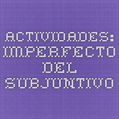 actividades: imperfecto del subjuntivo