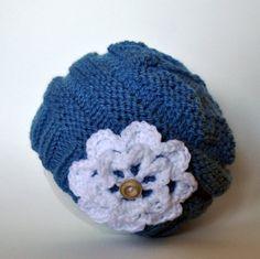 Free Pattern: Knit Slouch Flower Hat   Classy Crochet