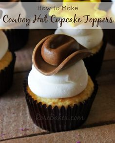 How to make Cowboy Hat Cupcake Toppers