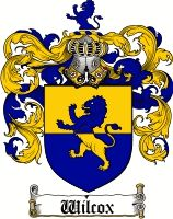 Wilcox Coat of Arms / Wilcox Family Crest - Katherine Wilcox (b. 1537 ) m. Roger Billing (b. 1535 Taunton, Somersetshire, England d. 16 Dec. 1596 Baltons, Borough, Somersetshire, England.