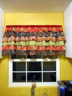 DIY Curtains kitchen