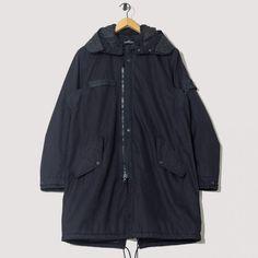 Capospalla Lungo Down Coat - Black | Stone Island Shadow Project | peggs & son.