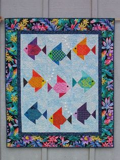 Tropical fish for under the ocean - Military Quilt No. 4.
