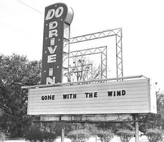 Vintage photos of Alabama's early drive-in theaters, plus one fly-in cinema Storefront Signage, Drive In Movie Theater, Mobile Alabama, Perfect Date, Gone With The Wind, Vintage Photos, Abandoned, Past, Cinema