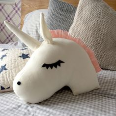 Unicorn Pillow, Nursery Decor, Kids Pillow, Baby Bedding, Baby Pillow, Nursery Decor, Gift for Newborn, Plush toy, Macigal unicorn by ChikyPOP on Etsy https://www.etsy.com/listing/268552269/unicorn-pillow-nursery-decor-kids-pillow
