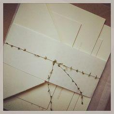 Wedding samples on their way out. #letterpress #weddinginvitation