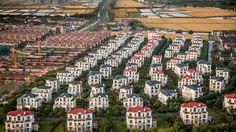 Converting Chinese rice fields into luxury villas.