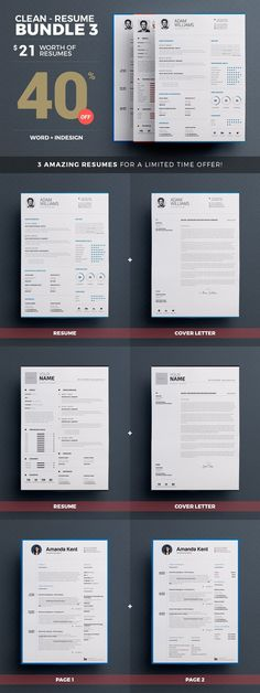 Resume/CV Template Cv template, Resume cv and Template