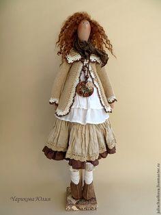 Купить Тильда в стиле Бохо - бежевый, тильда, бохо, бохо-стиль, тильда кукла, подарок
