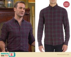 Will's grey and purple plaid flannel shirt on Friends with Better Lives. Outfit Details: http://wornontv.net/32811/ #FWBL