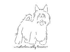 Australian Silky Terrier sketch - Fine Art Print Glicee Poster Decor Home sketch drawing Gift Illustration Dog - SKU 2477 Silky Terrier, Drawing Sketches, Drawings, Pigment Ink, Yorkshire Terrier, Illustration, Fine Art Prints, Pets, Artist