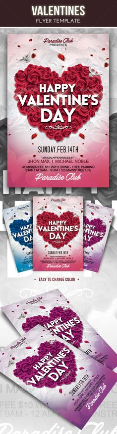 Valentines Flyer Template Flyer Template Template And Fonts