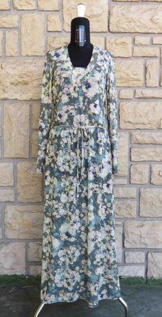 abito lungo in jersey fantasia #longdress #flowerdress #abiti #dress #flowerprint