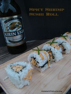 Spicy Shrimp Sushi Rolls