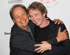 Billy Crystal, Martin of the funniest guys. Famous Comedians, Martin Short, Billy Crystal, Jewish Men, You Make Me Laugh, Famous Couples, Love To Meet, Saturday Night Live, Man Humor