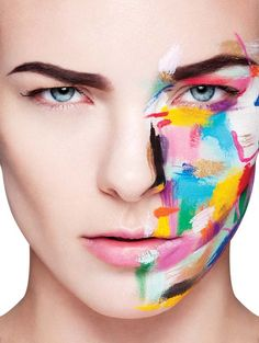 Inspiration couleur - Tyler Tilley's art inspired this makeup artist. Art + Makeup featured in Chloe magazine :) Make Up Is An Art