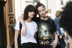 sisters in arms. #MicaArganaraz & #LexiBoling #offduty in Milan.