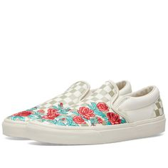 a6071425878 Vans Classic Slip On DX Rose Embroidery Marshmallow   Turtledove 1