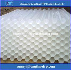 50mm PP and PVC hexagonal honeycomb lamella clarifier plate tube settler