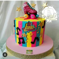Soy luna Roller Skating Party, Skate Party, Soy Luna Cake, 18th Birthday Cake, Fondant Tutorial, Son Luna, Cake Shop, Diy Home Crafts, Dessert Recipes