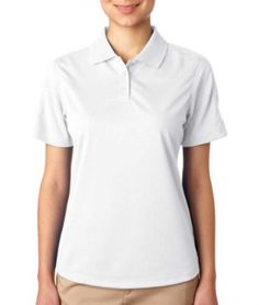 UltraClub Women's Stain Release Polo Shirt, White, Small UltraClub. $16.99