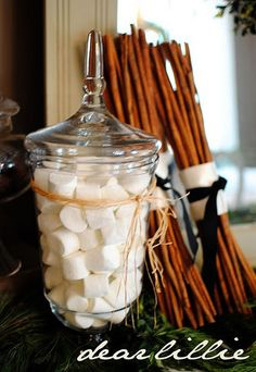 marshmallows... winter-christmas-decorating