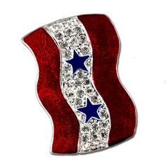 Two Star Service Banner Pin - Diamond-Like Swarovski Crystals with Red enamel and a two blue stars.  Price: $20.00  http://www.starsandstripesproducts.com/two-star-service-banner-pin/ #blue star pin #blue star brooch #blue star moms