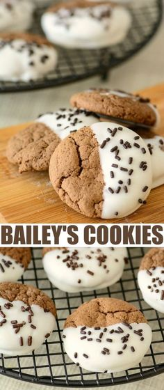 This is absolutely the best Bailey's Chocolate Dipped Cookies Recipe for a delicious St. Patrick's Day dessert incorporating Bailey's Irish Cream.