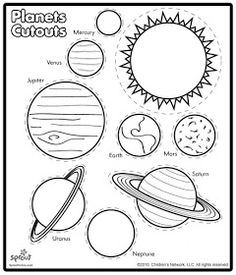 Planet Cut Outs Key Concepts Include Position Of The Earth In Solar System Print Worksheet On Card Stock Out And Have Students Put