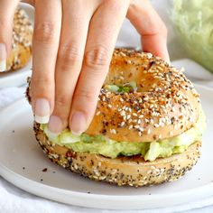 Avocado Egg Salad - no mayo here! just avocados, eggs, herbs, lemon juice, and salt. especially good on an everything bagel. just saying. Gluten Free / Vegetarian. #vegetarian #glutenfree #sugarfree #healthy