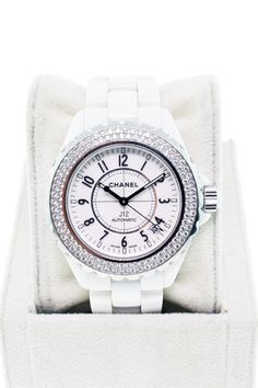Chanel J12 in white with diamonds