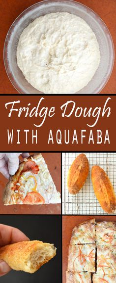 Fridge Dough using aquafaba. The aquafaba makes this dough extra crispy and crusty, making #pizza, #focaccia, #breadsticks, #rolls, and #baguettes. From Zsu's #Vegan Pantry. #plantbased #meatless #vegetarian