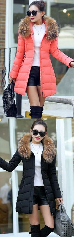 Women's Regular Padded Coat,Sophisticated Going out Solid-Polyester Long Sleeves Coat