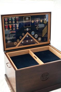 Commemorative #chest for a retired navy chief