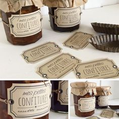 Love the packaging Diy Cosmetics Labels, Cosmetic Labels, Honey Packaging, Food Packaging, Packaging Design, Jar Design, Label Design, Food Gifts, Candle Making