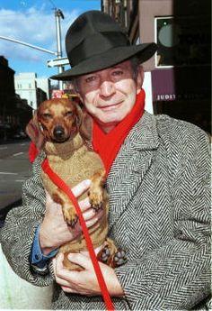 The late Ben Gazzara with his dachshund, Manhattan, 2001.