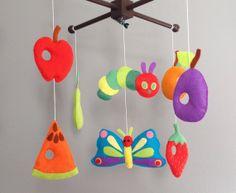 Crib Mobile Nursery Decor Very Hungry by wonderfeltland on Etsy, $88.00
