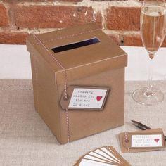 Just My Type Kraft Wedding Wishes Post Box Wedding Post Box, Card Box Wedding, Wedding Favor Tags, Wedding Guest Book, Postbox Wedding, Wedding Day Wishes, Wish Box, Wedding Advice Cards, Alice In Wonderland Wedding