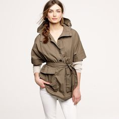 J.Crew Pontoon Anorak New with tags. Never worn, but I have lost the belt it came with J. Crew Jackets & Coats