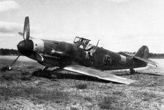 Messerschmitt Bf 109G-6, MT-423, 2./HLeLv 30 at the airport Utti.