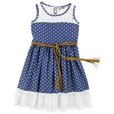 Monnalisa - Indigo star-printed dress - 31431