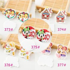 50pcs/lot Mixed Christmas Holiday Resin Flatbacks Kawaii Cartoon Planar Resin Crafts for DIY Home Decoration Accessories