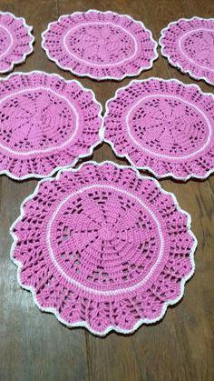 Crochet Doily Step By Step Crochet Edging Patterns, Crochet Motif, Crochet Doilies, Drops Patterns, Crochet Placemats, Crochet Potholders, Crochet Hot Pads, Crochet Baby Hats, Crochet Circles