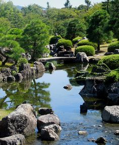 Nijo castle gardens, Kyoto, Japan