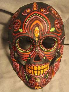 Hand Painted, One Of A Kind, Day of the Dead MASK